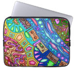 13' neoprene laptop sleeve with abstract artwork