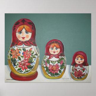 #13 Nesting Dolls Poster