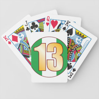 13 NIGERIA Gold Bicycle Playing Cards