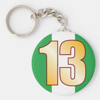 13 NIGERIA Gold Keychain