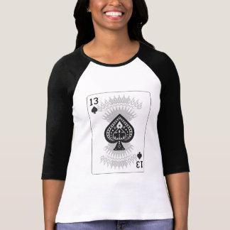 13 of Spades: Playing Card: Poker Black Jack T-Shirt