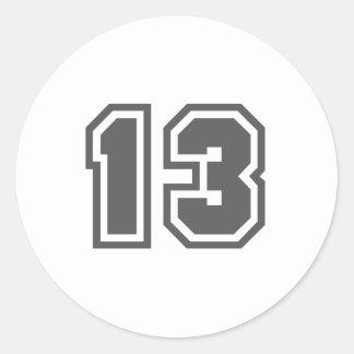 13 PEGATINA REDONDA