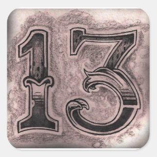 """13"" pegatinas cuadrados, brillantes pegatina cuadrada"