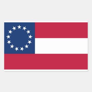 13 pegatinas del rectángulo de la bandera rectangular pegatinas