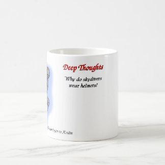 13 pensamientos profundos taza de café
