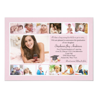 13 Photo Graduation Collage (Custom) Card