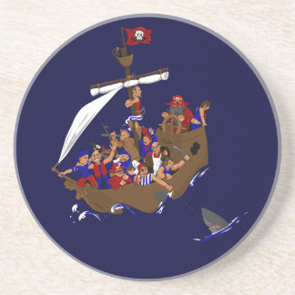 13 piratas posavasos de arenisca