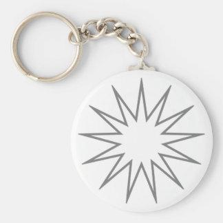 13 Pointed Star grey Keychain