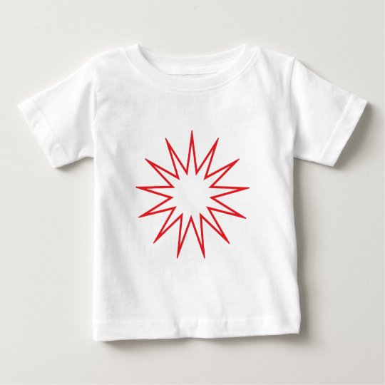 13 Pointed Star red Baby T-Shirt