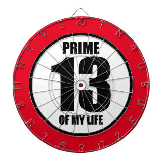 13 - prime of my life dartboard with darts