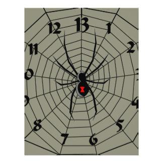 """13 reloj de la araña de trece horas folleto 8.5"""" x 11"""""""