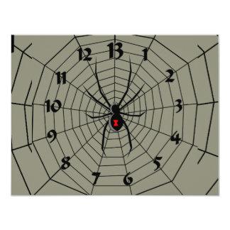 """13 reloj de la araña de trece horas invitación 4.25"""" x 5.5"""""""