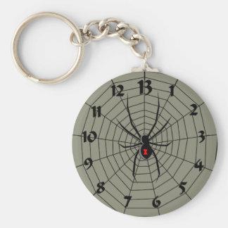 13 reloj de la araña de trece horas llavero redondo tipo pin