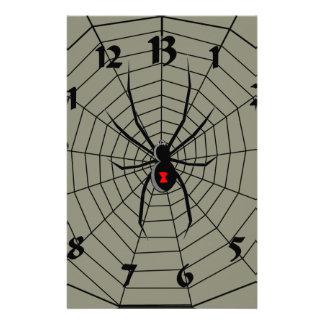 13 reloj de la araña de trece horas papeleria de diseño