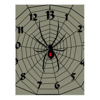 13 reloj de la araña de trece horas postal