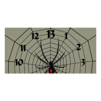 13 reloj de la araña de trece horas tarjetas personales
