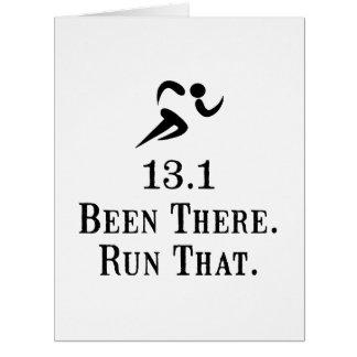 13 Run That Large Greeting Card