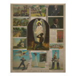 13 Scenes Pertaining to African American History Poster