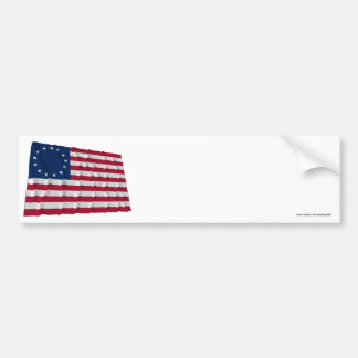 13-star flag, Betsy Ross pattern Bumper Sticker