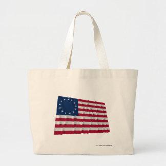 13-star flag, Betsy Ross pattern Jumbo Tote Bag