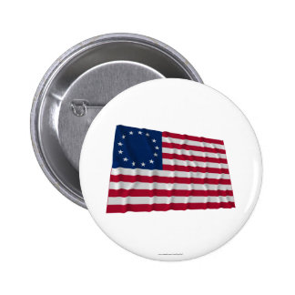 13-star flag, Betsy Ross pattern Pinback Button