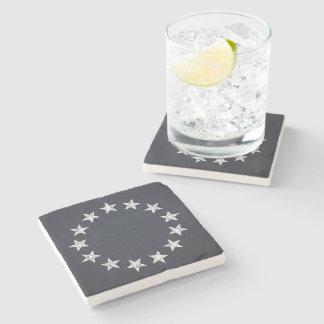 13 Stars Vintage Revolution Stone Beverage Coaster