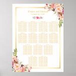 13 tablas que casan floral elegante con clase de póster