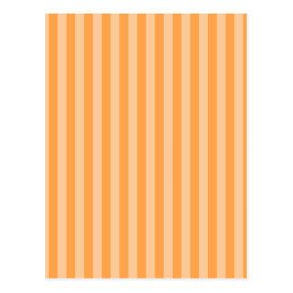 13 - Thin Stripes - Orange and Light Orange Postcard