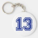 13 - Thirteen Basic Round Button Keychain