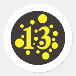 13-Thirteen Classic Round Sticker