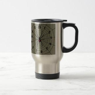 13 Thirteen Hour Spider Clockface Travel Mug