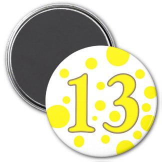 13-Thirteen Imán Redondo 7 Cm
