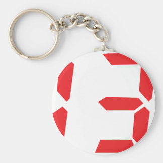 13 thirteen  red alarm clock digital number keychain