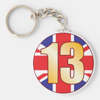 13 UK Gold Keychain
