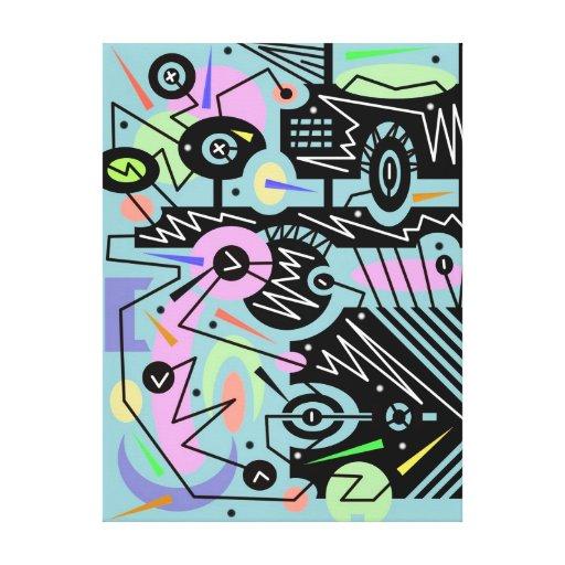 13 urbanos abstractos impresión en lona