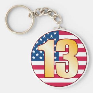 13 USA Gold Keychain