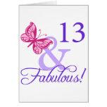 13 y cumpleaños fabuloso felicitacion