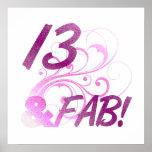 13 y cumpleaños fabuloso poster