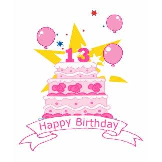 13 Year Old Birthday Cake shirt
