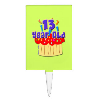13 Year Old Cake Toppers