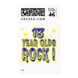13 Year Olds Rock ! (blue) Postage Stamps