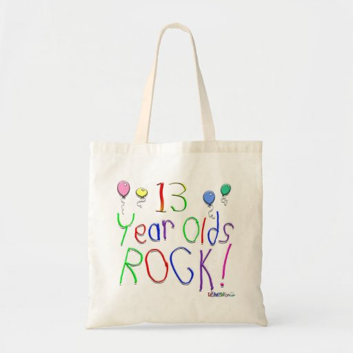 13 Year Olds Rock ! Budget Tote Bag