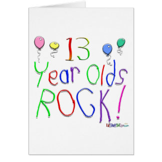 13 Year Olds Rock! Greeting Card