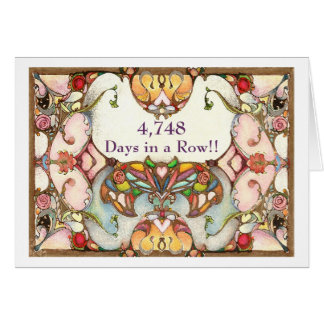 13 Years of Recovery Days Greeting Card