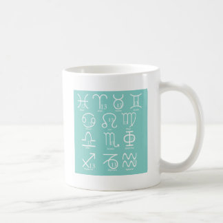13 Zodiac Signs Symbols Mugs