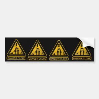 13F Danger Close FIST Car Bumper Sticker