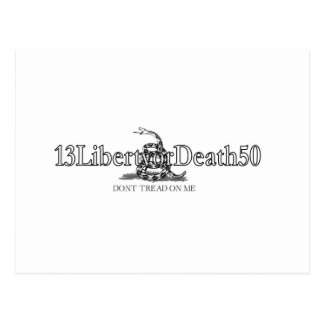 13LibertyorDeath50 Tarjeta Postal