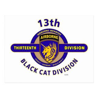 """13TH AIRBORNE DIVISION """"AIRBORNE CAT"""" DIVISION POSTCARD"""