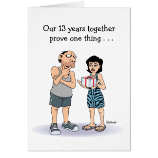 13th Anniversary Card Lucky Guy