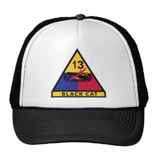 13th Armored Division - BLACK CAT Trucker Hat